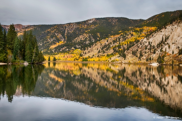 Colorado Autumn Fishing Lake Reflections