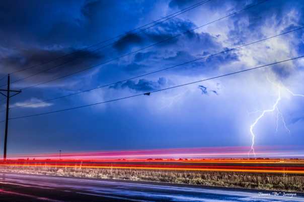 Drive By Lightning Strike art print