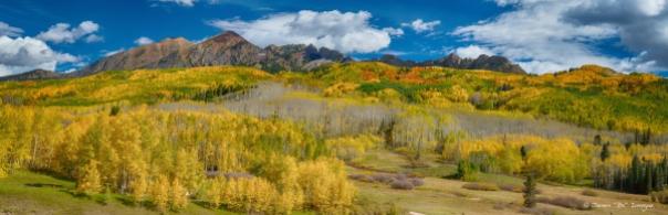 Kebler Pass Autumn Season Panorama