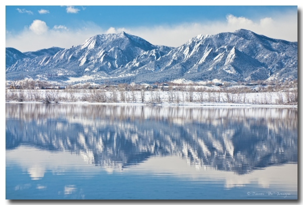 Boulder Reservoir Flatirons Reflections Boulder Colorado