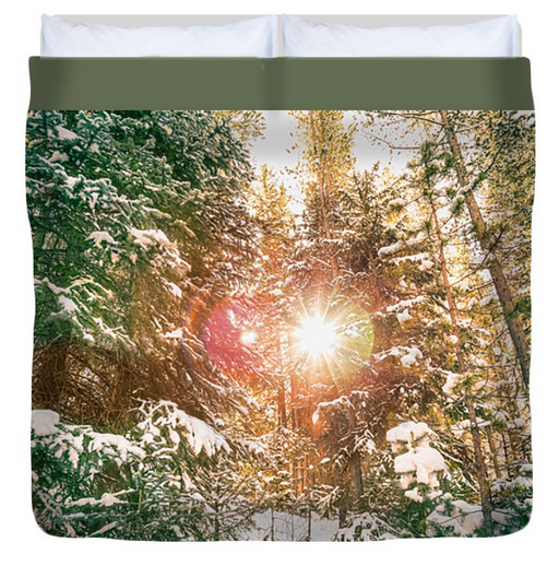 Colorado Rocky Mountain Snow and Sunshine King Duvet Cover