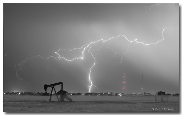 Weld County Dacona Oil Fields Lightning Thunderstorm BWSC