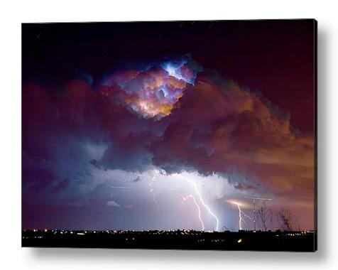 Lightning Thunderstorm Over Dacona Acrylic Print