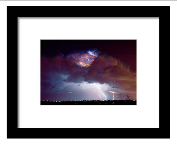 """Lightning Thunderstorm Over Dacona"" framed print by James BO Insogna. Ships within 3 - 4 business days and arrives ready-to-hang with pre-attached hanging wire, mounting hooks, and nails. Choose from multiple print sizes, papers, mats, and frames."