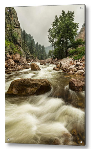 South St Vrain Canyon Portrait Boulder County Co Acrylic Print