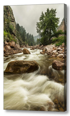 South St Vrain Canyon Portrait Boulder County Co Canvas Print