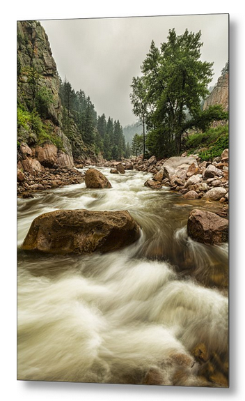 South St Vrain Canyon Portrait Boulder County Co Metal Print