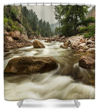 South St Vrain Canyon Portrait Boulder County CO Shower Curtain