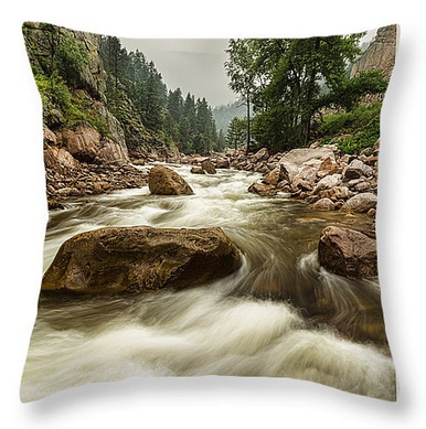 South St Vrain Canyon Portrait Boulder County CO Throw Pillow 18