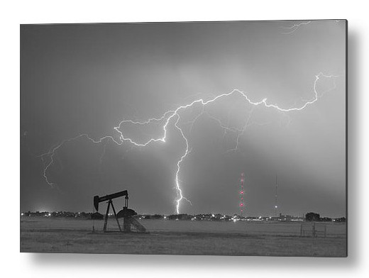 Weld County Dacona Oil Fields Lightning Thunderstorm Bwsc Metal