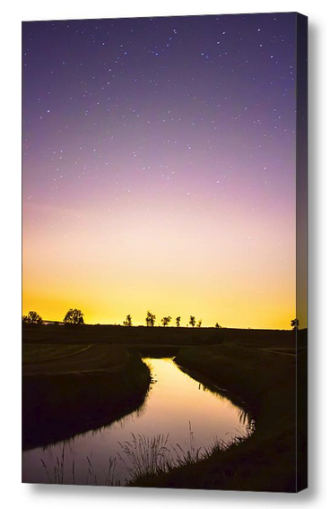 As Nighttime Falls Canvas Print