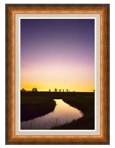 As Nighttime Falls Framed Print