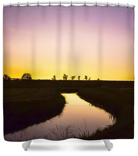 As Nighttime Falls Shower Curtain